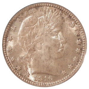 Click now to see the BUY IT NOW Price! 1916 D/D 25C PCGS MS 64 RPM 1   NEAR GEM BARBER QUARTER VARIETY