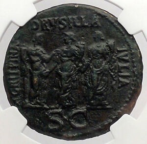 Click now to see the BUY IT NOW Price! CALIGULA 3 SISTERS SESTERTIUS DRUSILLA AGRIPPINA NGC CERTIFIED ROMAN COIN I54741