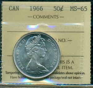 Click now to see the BUY IT NOW Price! 1966 CANADA FIFTY CENT PIECE QUEEN ELIZABETH II ICCS CERTIFIED MS 65