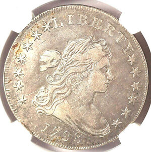 Click now to see the BUY IT NOW Price! 1798 $1 LARGE EAGLE VF35 NGC 10 ARROWS. B 13 BB 108 R.2 DRAPED BUST