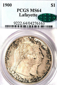 Click now to see the BUY IT NOW Price! 1900 $1 LAFAYETTE MS64 PCGS/CAC ONLY 448 IN HIGHER GRADE SILVER COMMEMORATIVE
