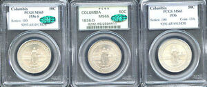 Click now to see the BUY IT NOW Price! 1936 50C COLUMBIA MS65 PCGS ONLY 582 IN HIGHER GRADE MINTAGE 9 007