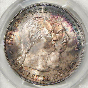 Click now to see the BUY IT NOW Price! 1900 LAFAYETTE $1 PCGS MS 65   GEM COMMEMORATIVE SILVER DOLLAR      GRCON