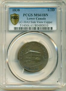 Click now to see the BUY IT NOW Price! 1838 SIDE VIEW 1/2D LC 10A3 PCGS MS61