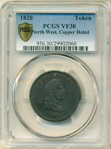 Click now to see the BUY IT NOW Price! 1820 NORTH WEST COPPER TOKEN PCGS VF30