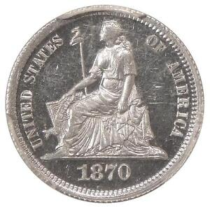 Click now to see the BUY IT NOW Price! 1870 J 835 10C PCGS PR 64 CAMEO   LOW POP SEATED LIBERTY DIME PATTERN    GRCON