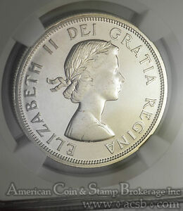 Click now to see the BUY IT NOW Price! CANADA $1 DOLLAR 1964 PL66 NGC SILVER KM58 ELIZABETH II WHITE MS MINT STATE