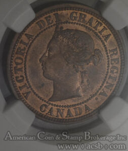 Click now to see the BUY IT NOW Price! CANADA 1C ONE CENT 1881 H MS64 RB NGC KM7 DDO ERROR MIXED FONT DOUBLE LEGEND