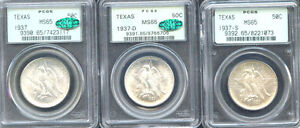 Click now to see the BUY IT NOW Price! 1937 50C TEXAS MS65 PCGS ONLY 526 IN HIGHER GRADE MINTAGE 6 571 SILVER COMME