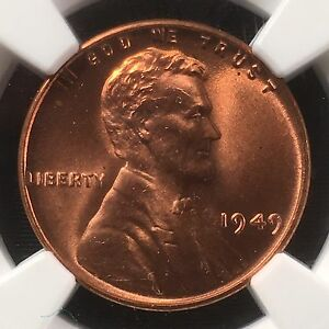 Click now to see the BUY IT NOW Price! 1949 1C RD LINCOLN WHEAT ONE CENT NGC MS67RD                     4468243 002C