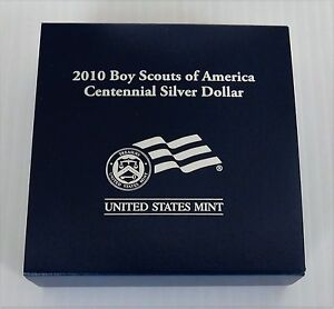 2010 BOY SCOUTS OF AMERICA SILVER PROOF DOLLAR MINT PACKAGING BY1