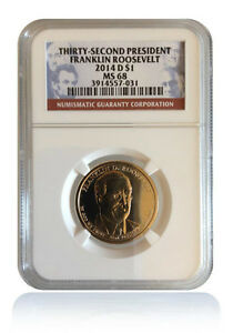 Click now to see the BUY IT NOW Price! NGC MS68 2014 D FRANKLIN ROOSEVELT PRESIDENTIAL DOLLAR GEM REGISTRY