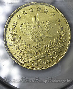Click now to see the BUY IT NOW Price! TURKEY 250 KURUSH AH1255//18 EF DETAILS PCGS GOLD KM680  TYPE