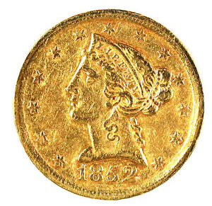 Click now to see the BUY IT NOW Price! 1852   D $5GOLD  LIBERTY HEAD TRENDS $3250 CHECK BOOK