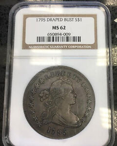 Click now to see the BUY IT NOW Price! UNIQUE OLDEST HIGHEST AND ST OF ALL SERIS OF ENTIRE 1795 $1 OFF NGC MS62