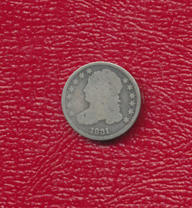 1831 CAPPED BUST SILVER DIME   NICE CIRCULATED EARLY DIME