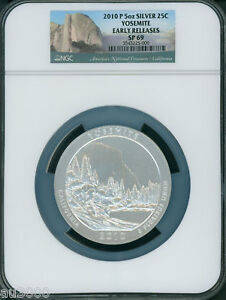 Click now to see the BUY IT NOW Price! 2010 P YOSEMITE PARK ATB AMERICA THE BEAUTIFUL 5 OZ. SILVER NGC SP69 E.R.