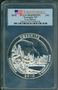 Click now to see the BUY IT NOW Price! 2010 YOSEMITE ATB AMERICA BEAUTIFUL 5 OZ. SILVER PCGS MS69 DMPL FS FIRST STRIKE