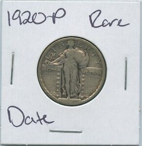 1920 P STANDING LIBERTY QUARTER  DATE US MINT SILVER COIN