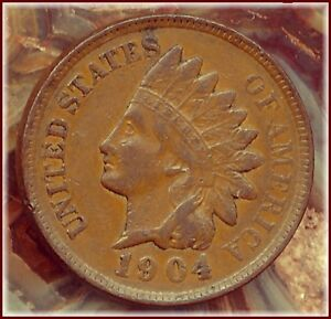 1904 INDIAN CENT  HIGHLY COLLECTABLE FLASHY BROWN SURFACES  BUY ME $8.00