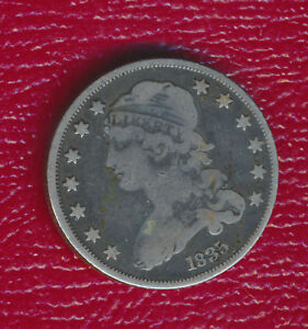 1835 CAPPED BUST QUARTER   FANTASTIC TONING