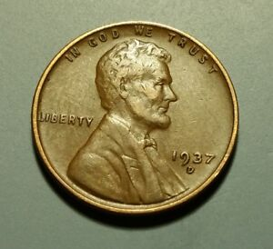 1937 D LINCOLN WHEAT PENNY W6178
