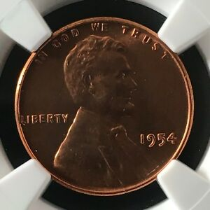 Click now to see the BUY IT NOW Price! 1954 1C RD LINCOLN WHEAT ONE CENT NGC MS67RD                     4474316 005C