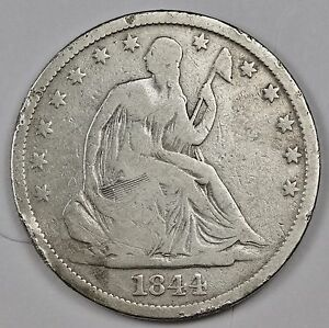 1844 O SEATED LIBERTY HALF.  V.G.  112538