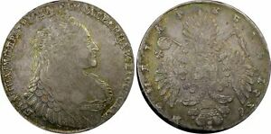 Click now to see the BUY IT NOW Price! RUSSIA 1736 ANNA HORSE HEAD W/O BROOSH NINE PEARLS  ROUBLE PCGS AU55