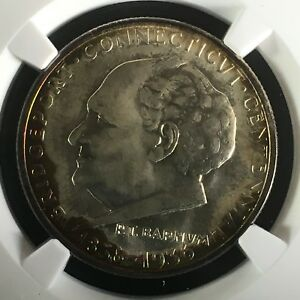 Click now to see the BUY IT NOW Price! 1936 50C BRIDGEPORT COMMEMORATIVE HALF NGC MS67     3754009 011C