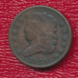 1828 CLASSIC HEAD HALF CENT   13 STARS VARIETY   NICE TYPE COIN