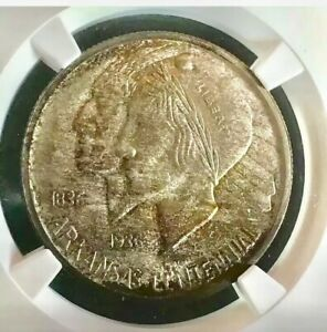 Click now to see the BUY IT NOW Price! 1935 S 50C ARKANSAS COMMEMORATIVE HALF NGC MS67   CAC       4198431 004C