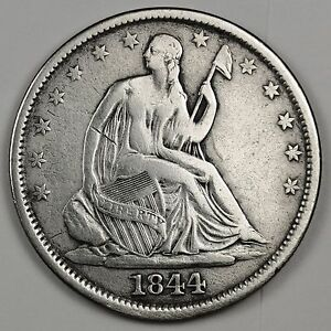 1844 O SEATED LIBERTY HALF.  V.F.  111767