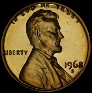 1968 S TRUE GEM CAMEO PROOF LINCOLN CENT   BEST VALUE @ CHERRYPICKERCOINS A127