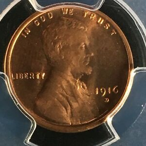 Click now to see the BUY IT NOW Price! 1916 D 1C RD LINCOLN WHEAT ONE CENT PCGS MS66RD    25644379C