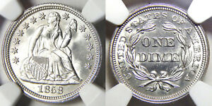 Click now to see the BUY IT NOW Price! 1858 10C NGC MS 67   LIBERTY SEATED DIME//