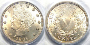 Click now to see the BUY IT NOW Price! 1885 5C PCGS MS 65 NICKEL LIBERTY//