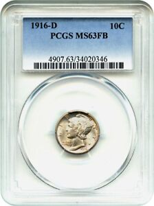 Click now to see the BUY IT NOW Price! 1916 D 10C PCGS MS63 FB   RARITY IN FULL BANDS   MERCURY DIME
