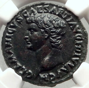 Click now to see the BUY IT NOW Price! GERMANICUS FATHER OF CALIGULA  RESTITUTION ROMAN COIN OF TITUS NGC AU I68296