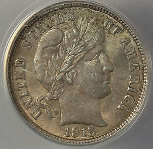 Click now to see the BUY IT NOW Price! 1915 10C MS63 ANACS   NICE COIN IN NEW HOLDER
