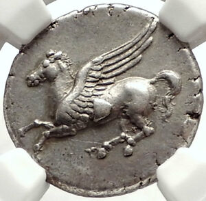 Click now to see the BUY IT NOW Price! SYRACUSE IN SICILY SILVER GREEK COIN LIKE CORINTH STATER PEGASUS NGC CHXF I67718