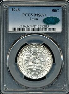 Click now to see the BUY IT NOW Price! 1946 IOWA COMMEMORATIVE HALF DOLLAR PCGS MS67  / CAC