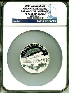 Click now to see the BUY IT NOW Price! 2014 $30 CANADA GRAND TRUNK PACIFIC RAILWAY EARLY RELEASE NGC PF70 ULTRA CAMEO