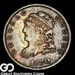 1830 CAPPED BUST HALF DIME TOUGH CHOICE XF   EARLY SILVER TYPE