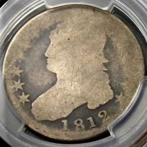 1812 CAPPED BUST HALF DOLLAR   PCGS FR02   CERTIFIED & GRADED EARLY 50C SILVER