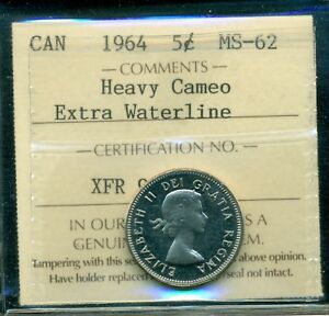 Click now to see the BUY IT NOW Price! 1964 XWL CANADA QUEEN ELIZABETH II FIVE CENT ICCS MS 62 HEAVY CAMEO