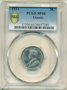 Click now to see the BUY IT NOW Price! 1934 5 CENT PCGS SP66