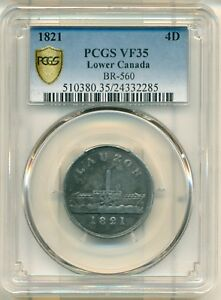Click now to see the BUY IT NOW Price! 1821 LAUZON FERRY VF35 PCGS