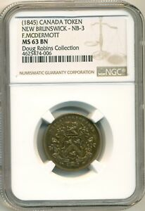Click now to see the BUY IT NOW Price! 1845 F.MCDERMOTT NB 3 NGC MS63