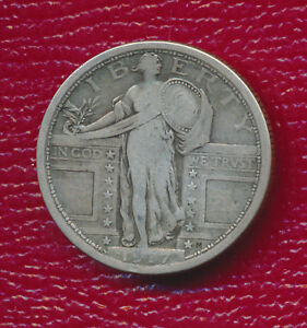 1917 STANDING LIBERTY SILVER TYPE I QUARTER   FANTASTIC TONING